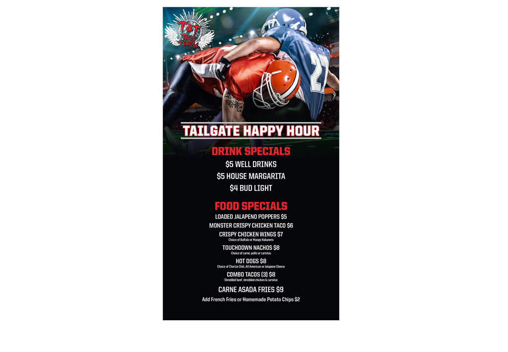 Tailgate Happy Hour Promo